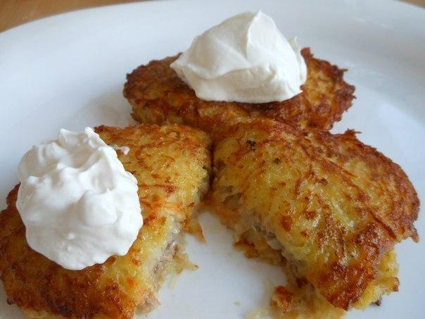 Картофельные драники с овощами рецепт