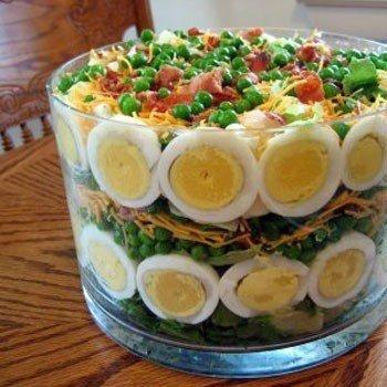необычное оформление салатов.рецепты с фото