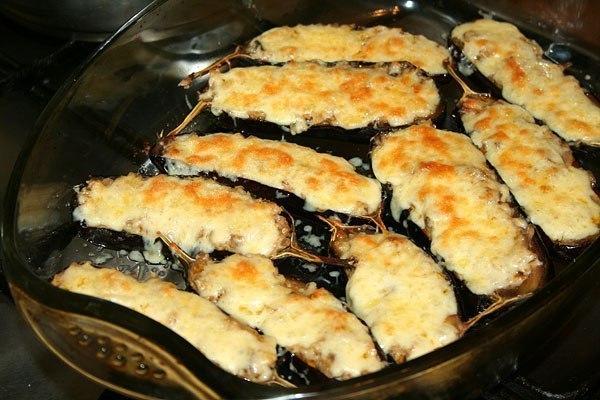 Рецепт грибы в баклажанах